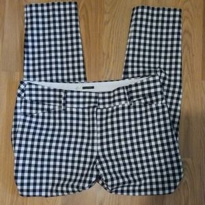 Talbots black and white checkered pants
